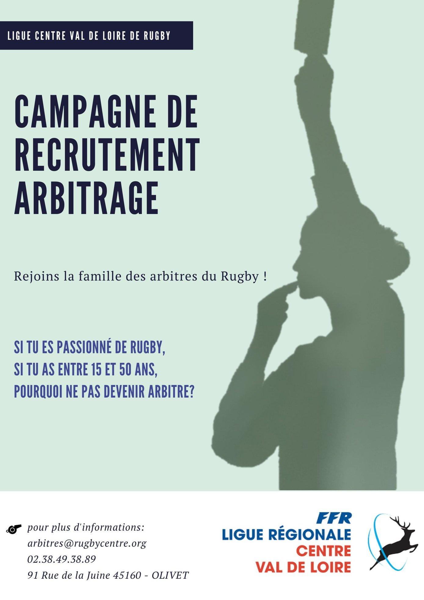 Campagne de recrutement arbitrage