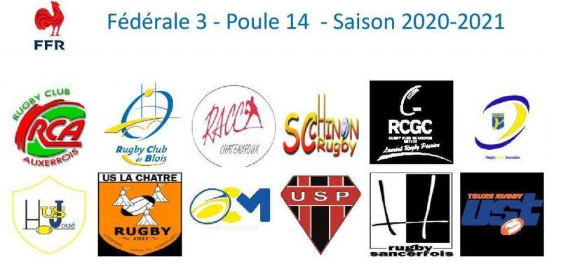 Fanions Federale 3 poule 14 2020 2021