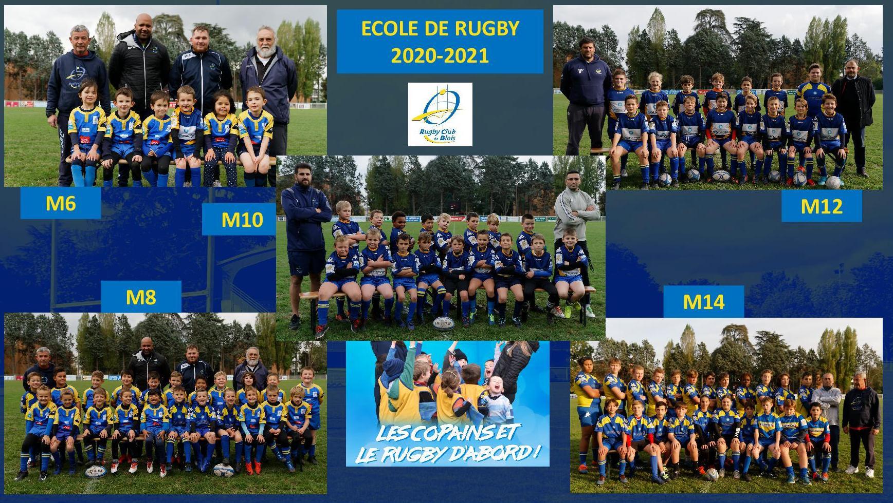 L'Ecole de Rugby du RC Blois vous présente les photos des équipes 2020-2021