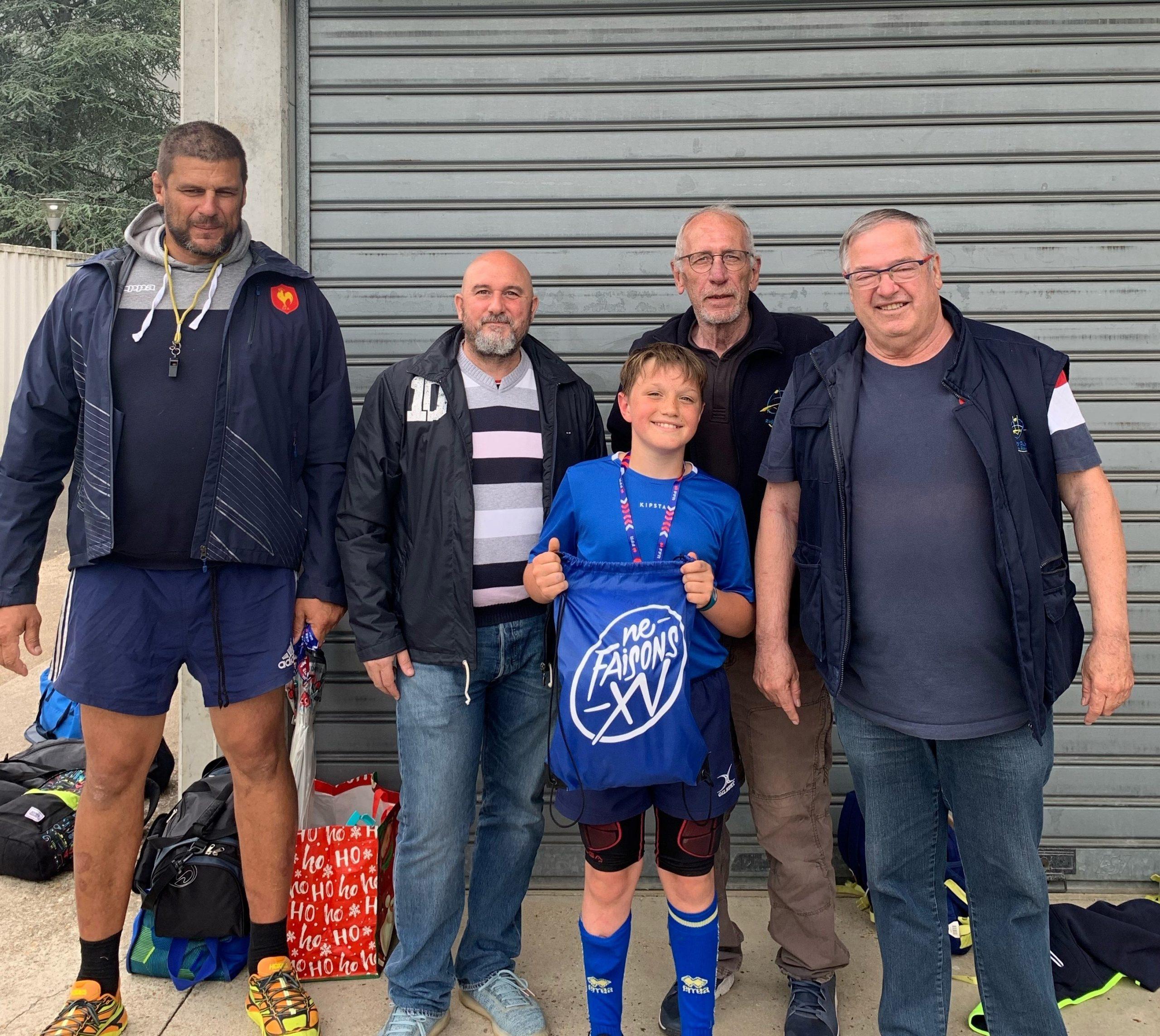 Baptiste, des M12 du Rugby Club de Blois, gagne le Quizz Ecole de Rugby