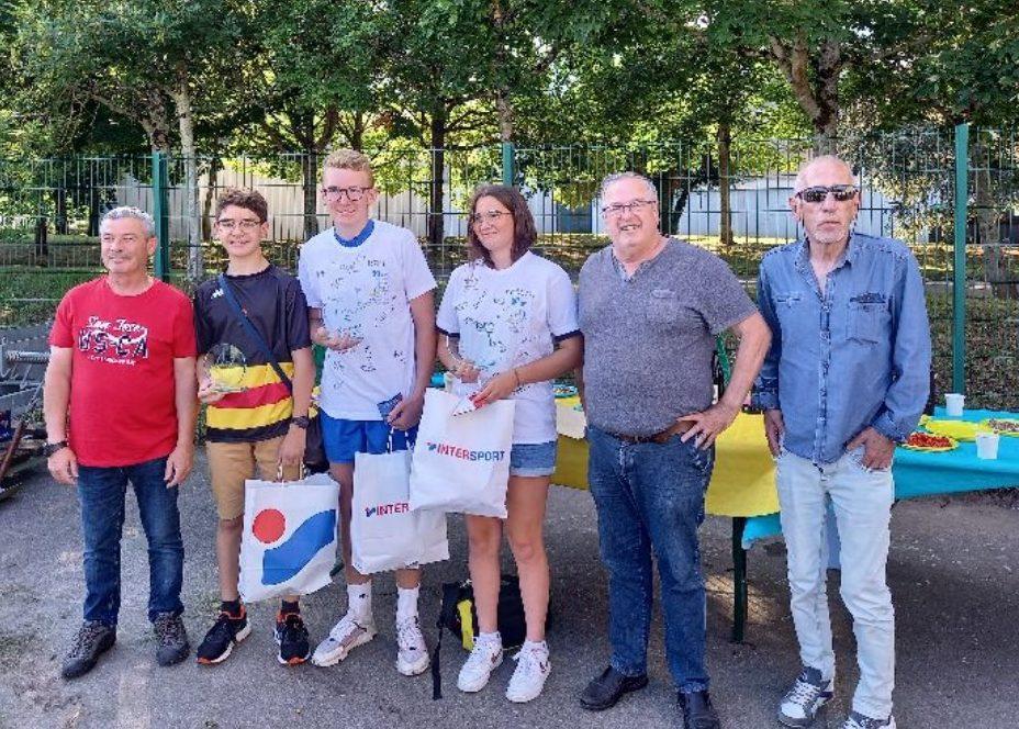 Pot de fin de saison au Rugby Club de Blois pour Margot, Rémi et Florian